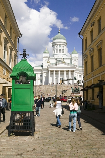 Street scene by the Cathedral in Helsinki